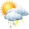 Intervalos nubosos con chubascos tormentosos